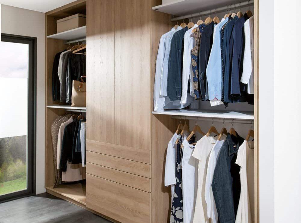 Indiak oak walk in garderobe i lyst tr k b hos schmidt for Garderobe novel