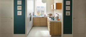Det lyse lille køkken