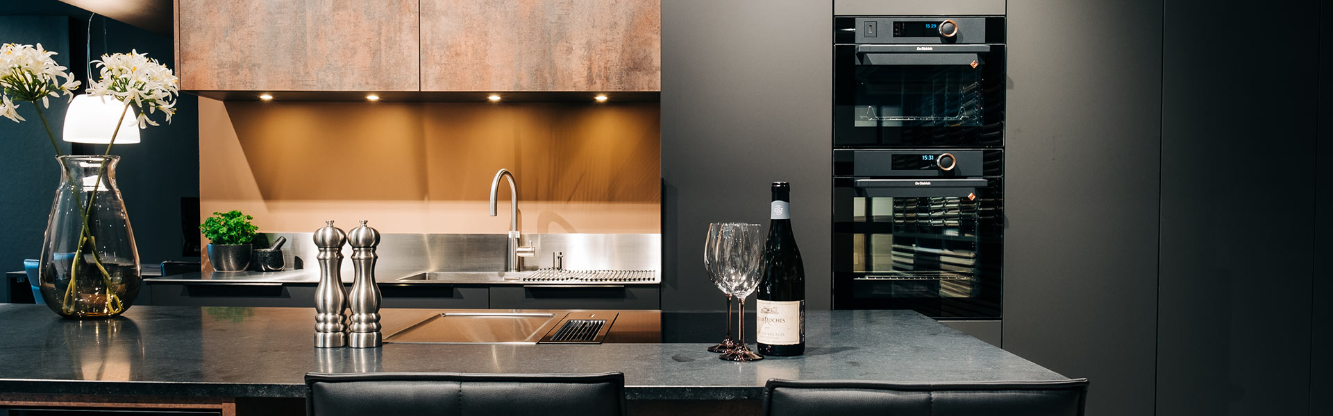 køkkenbordplade i stål