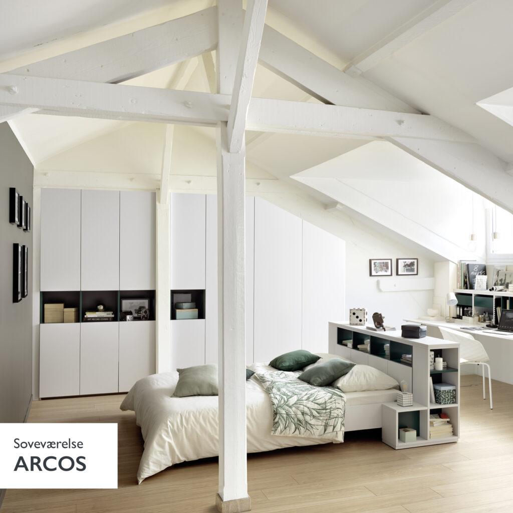 soveværelses indretning i skandinavisk stil