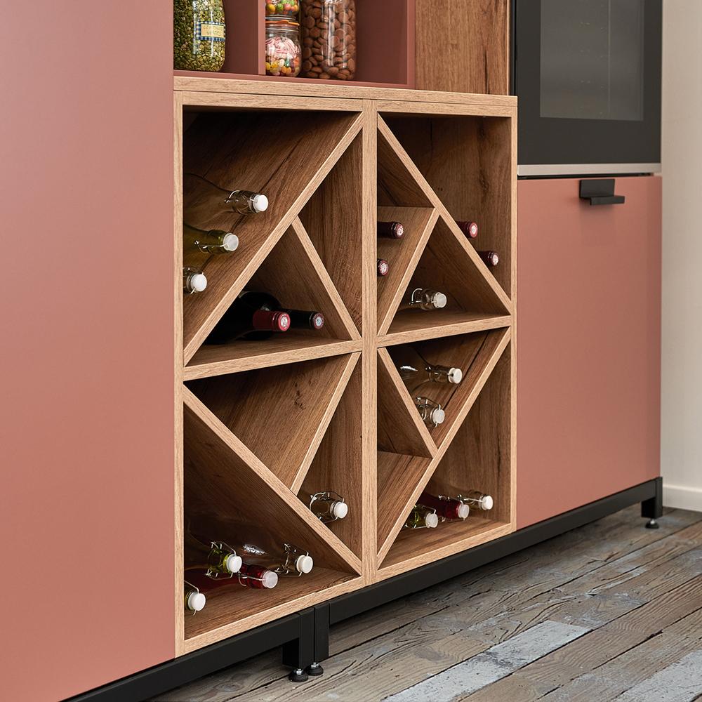Vinopbevaring i køkken