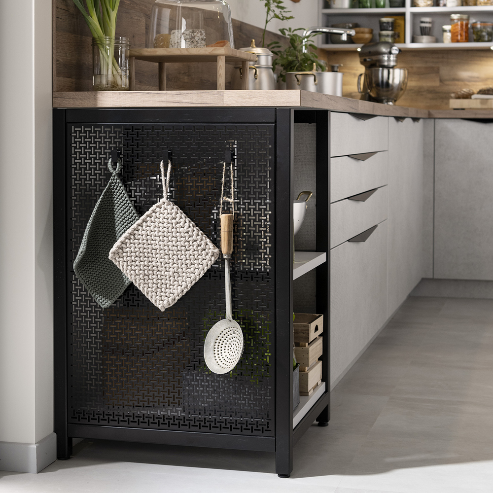 Køkkendetalje i metal