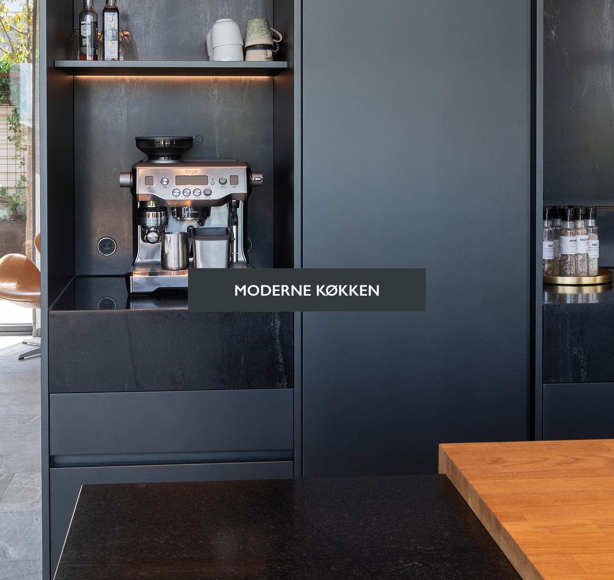 Moderne køkken i sort